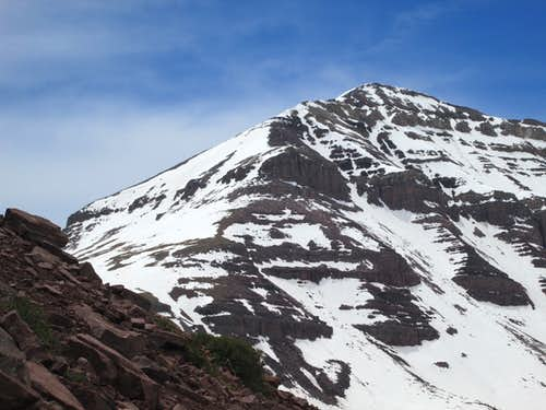 Looking towards Gunsight Pass(left) and West Gunsight Peak(right) on the approach to Kings Peak