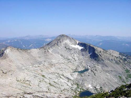 Looking south to Pyramid Peak...