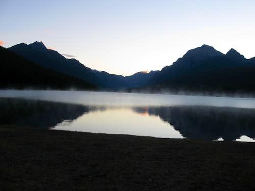 Dawn at Bowman Lake