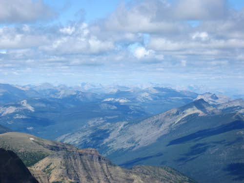 Zoom North Towards the Canadian Rockies