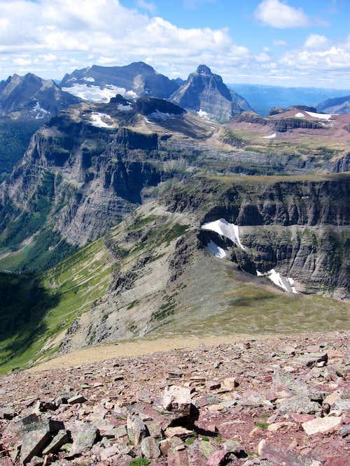 Descending the West Ridge of Chapman Peak
