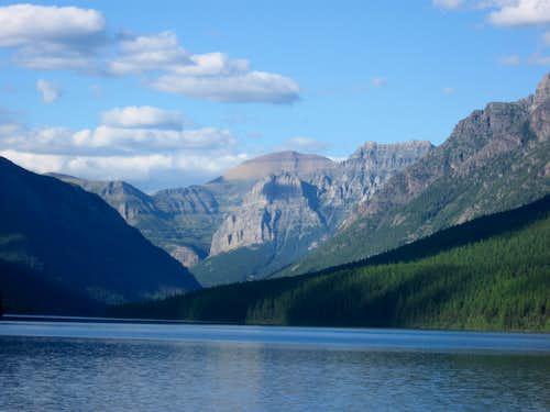 Chapman Peak Above Bowman Lake