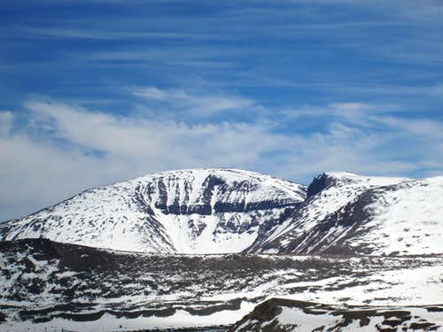 Closeup of Mount Emmons seen from the eastern flank of West Gunsight Mountain, Uinta Range