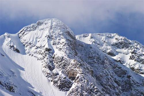 Powell Peak as seen from the...