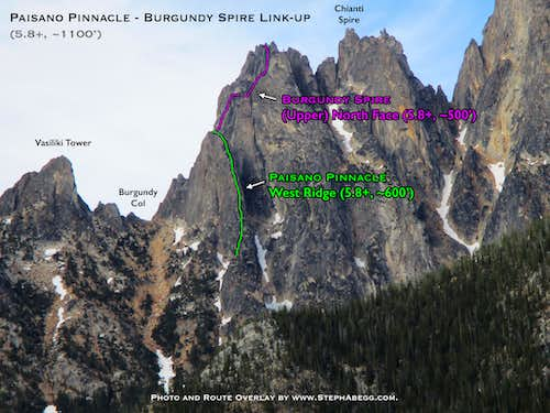 Route Overlay Paisano + Burgundy Spire link-up
