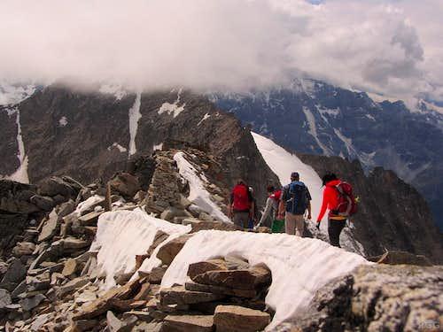 On the Großer Angelus summit ridge
