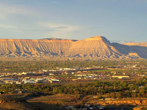 Mt. Garfield and the city of Grand Junction