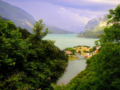 The lake of Molveno