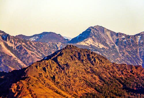 Raymond Peak west slope from Red Lake Peak