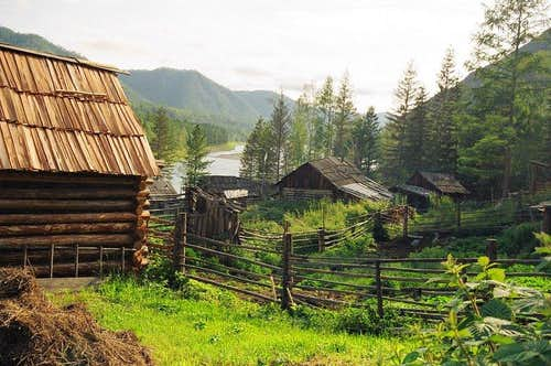 little village of the Old believers,Malyj Jenisej