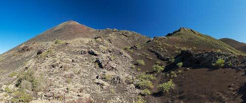 Pico Partido summit crater