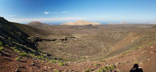 The pico Partido north crater