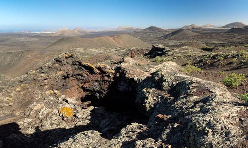 The eastern lava tunnel