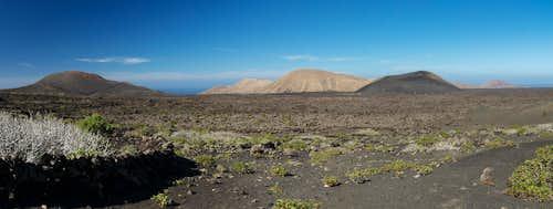 Caldera Roja, Caldera Blanca, Risco Quebrado, Montaña Tingafa