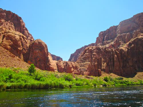 Side canyon seen from the Colorado River, near Lee's Ferry, Lower Glen Canyon