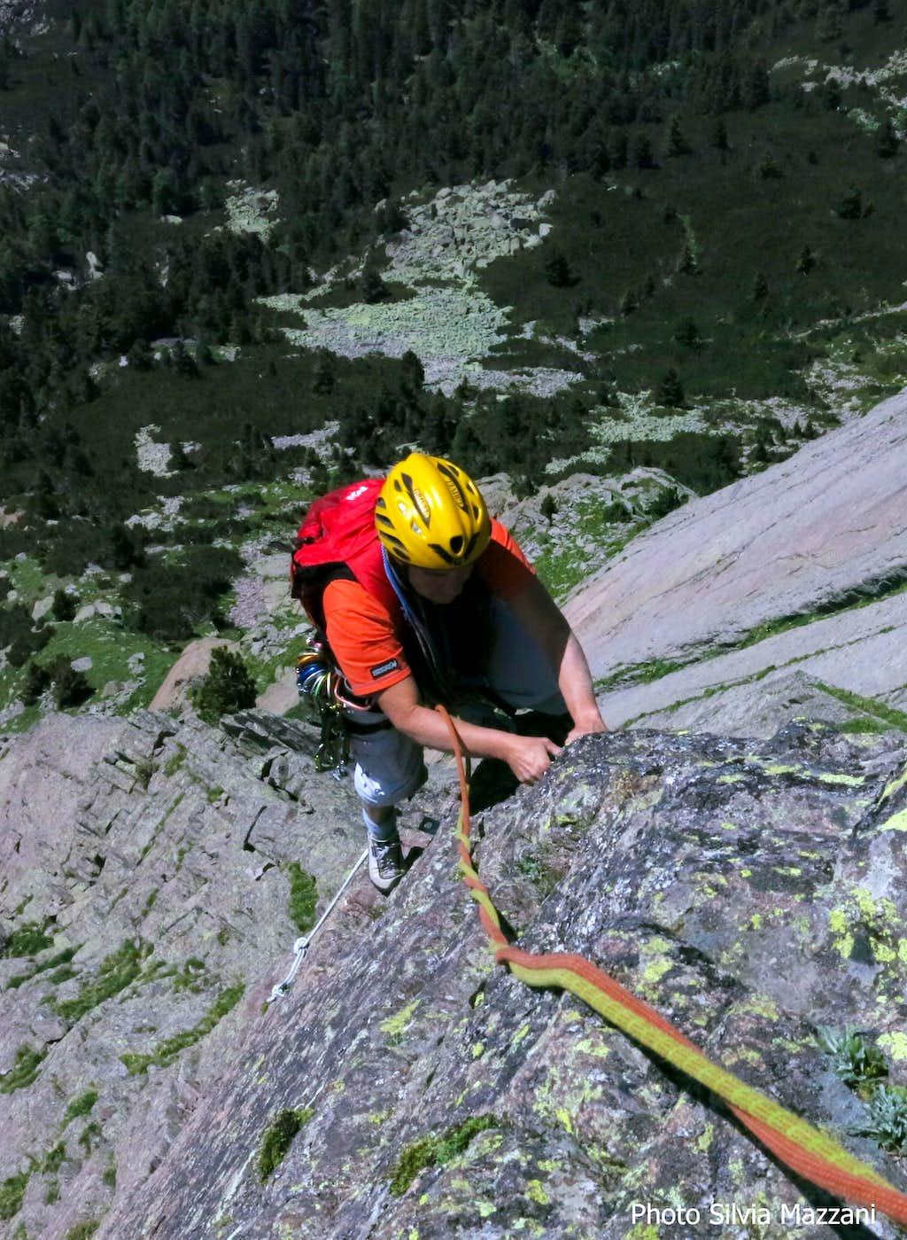 Airy climb on Holzerkante