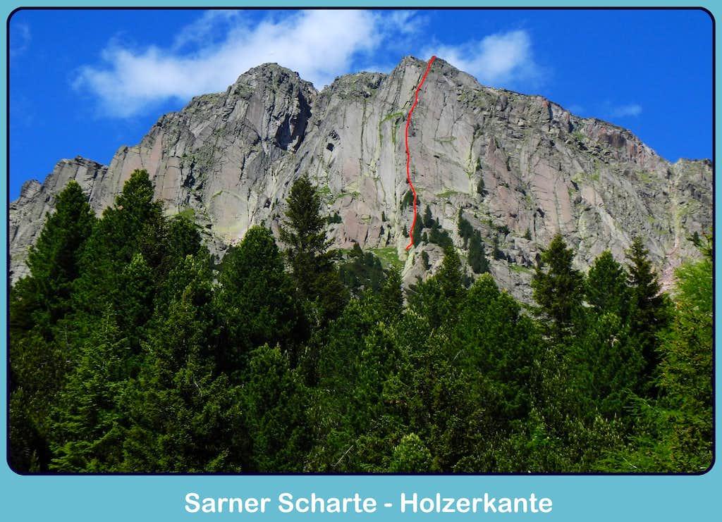 Beta of Holzerkante, Sarner Scharte