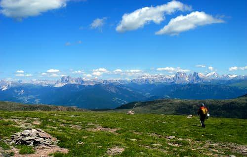 Western Dolomites wide pano from Sarner Scharte