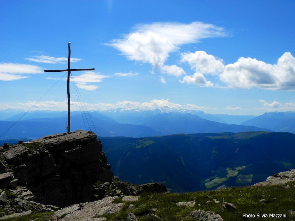 Sarner Scharte summit cross