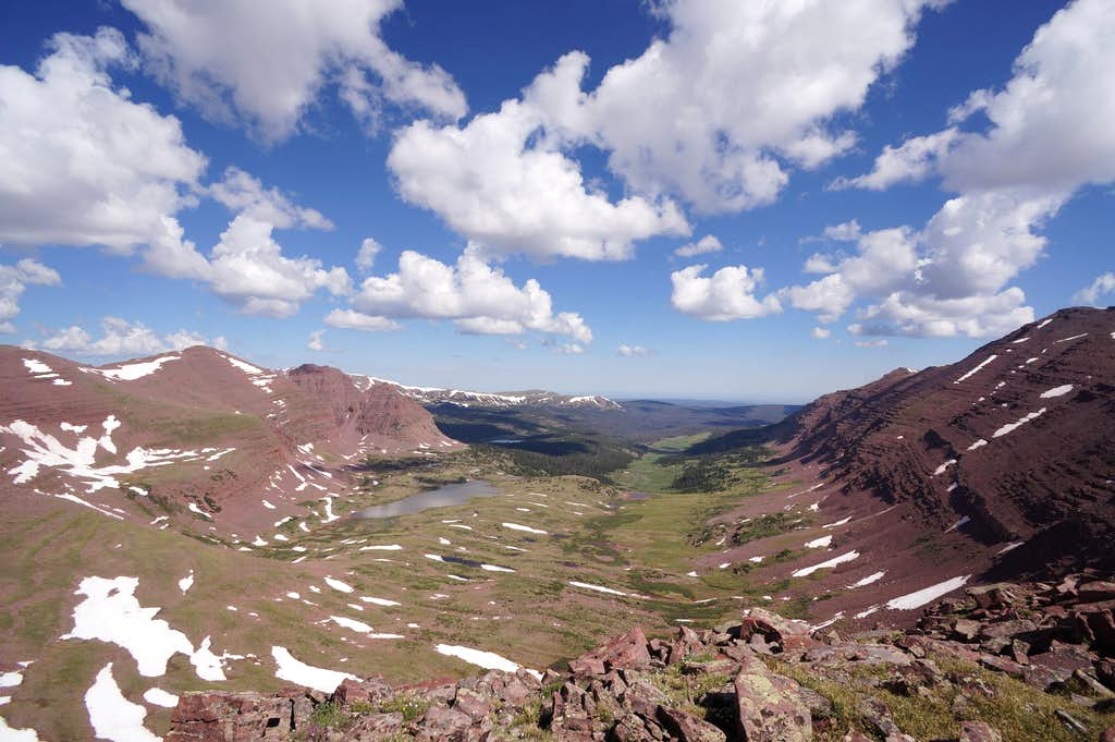 Northward View from Smiths Fork Peak