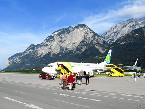 Time to leave the Alps - Insbruck Airport