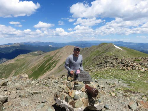 On top of Wheeler Peak