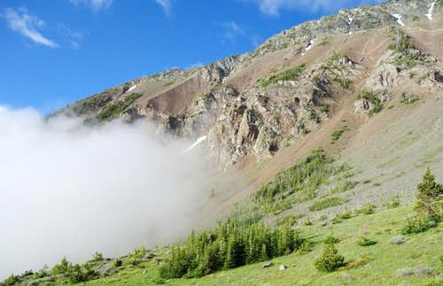 Clouds Rolling Up Chief Joseph Mountain