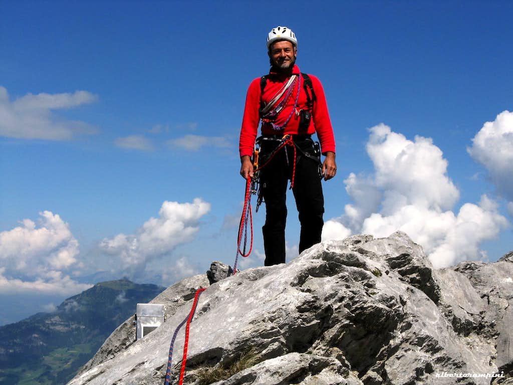 On the summit of Rosenlauistock