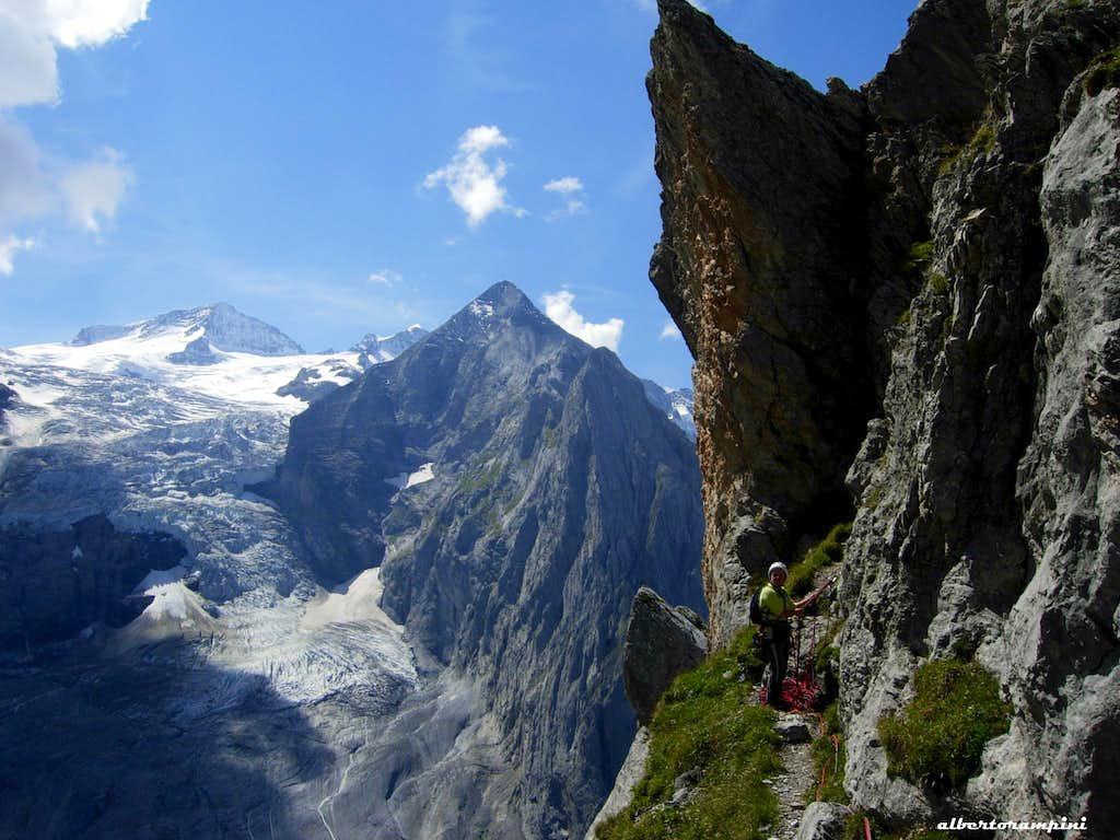 Rosenlauistock descent ledge
