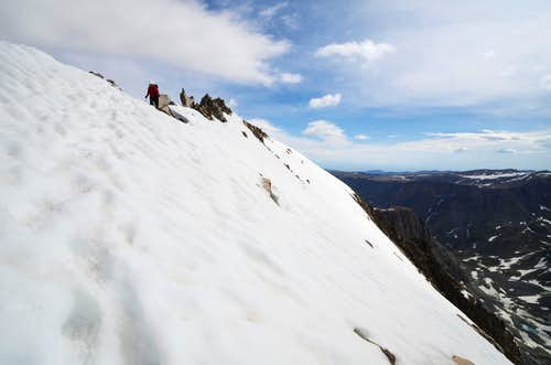 Descent from the Summit Ridge