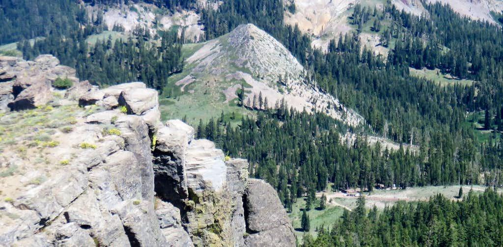 Barker Peak from the east