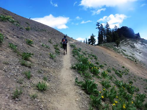 Nearing the turn off point to the Barker Ridge
