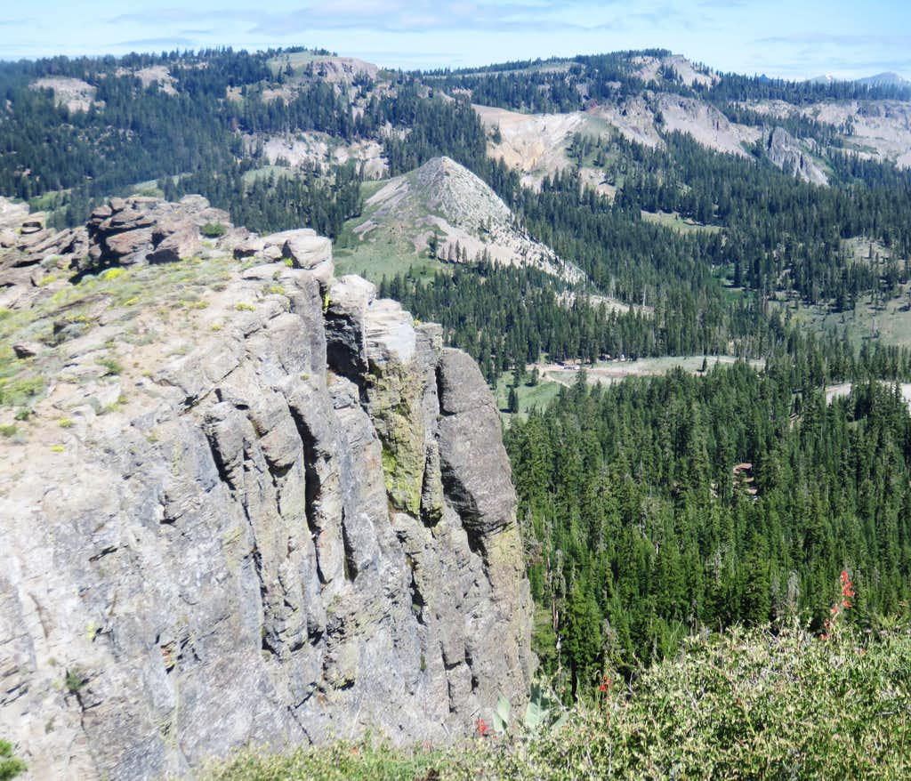 The Barker Ridge and Barker Peak from the Ellis Peak Trail
