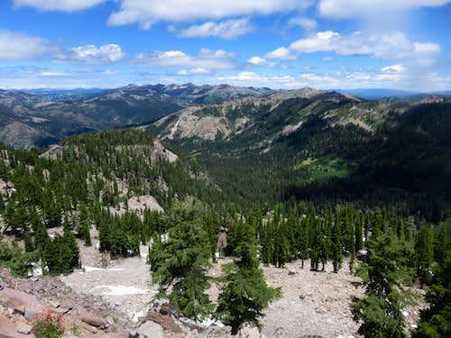 Granite Chief Wilderness from Peak 8652 on the Barker Ridge