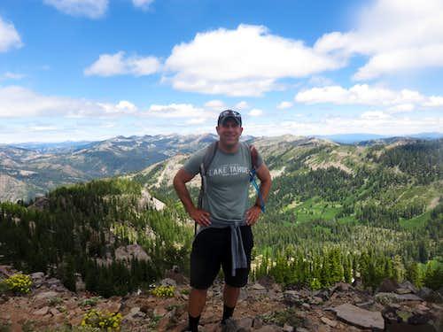 On the summit of Peak 8652 on the Barker Ridge