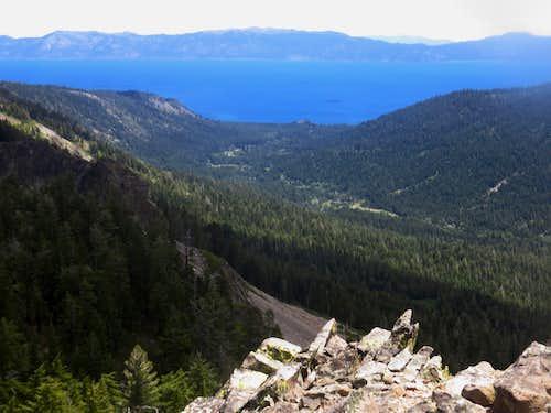 Lake Tahoe from Peak 8652 on the Barker Ridge
