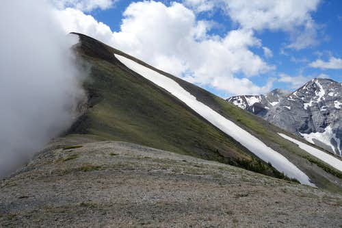 Hurwal Divide With Clouds Rolling In