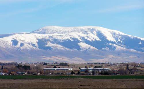 Mount Harrison dominates the...