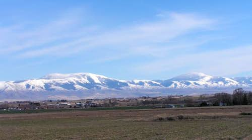 The Albion Range from Burley....