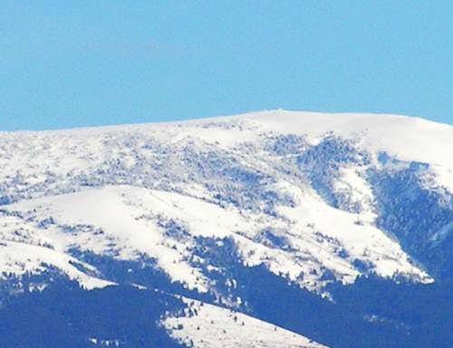 Zoomed photo of the summit of...