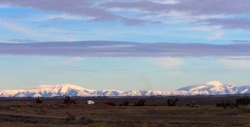 Mount Harrison, left, Cache...