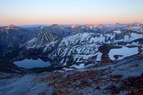 Sunset on the Wallowa Mountains