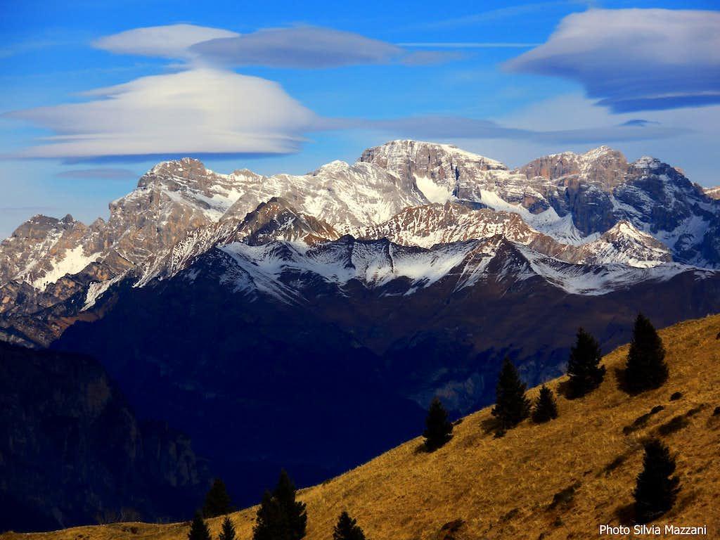 Lenticular clouds over Brenta Dolomites
