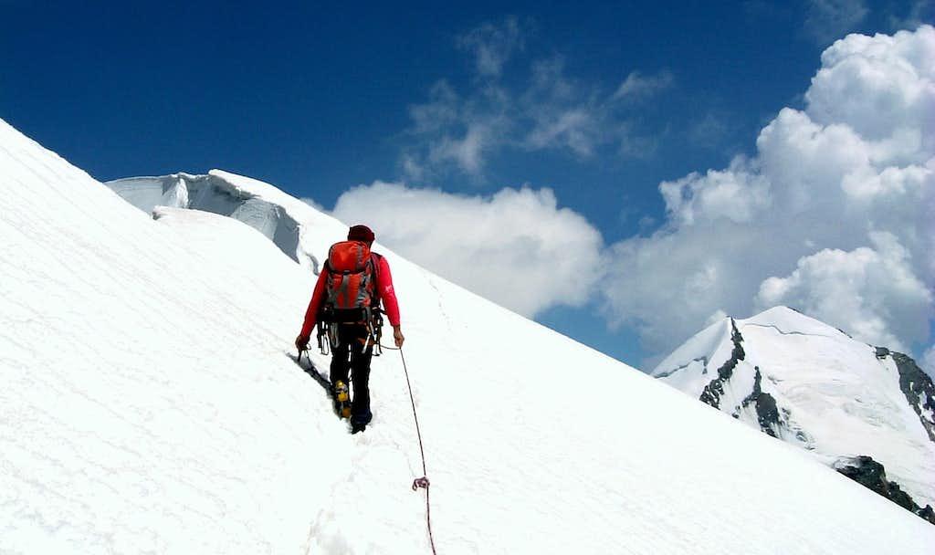 Getting the summit of Roccia Nera