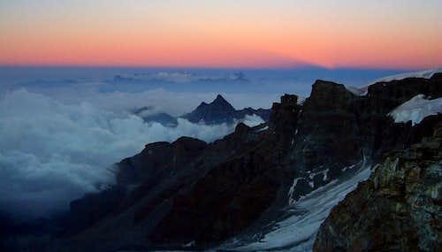 Dawn from Bivacco Rossi e Volante, Schwartztor