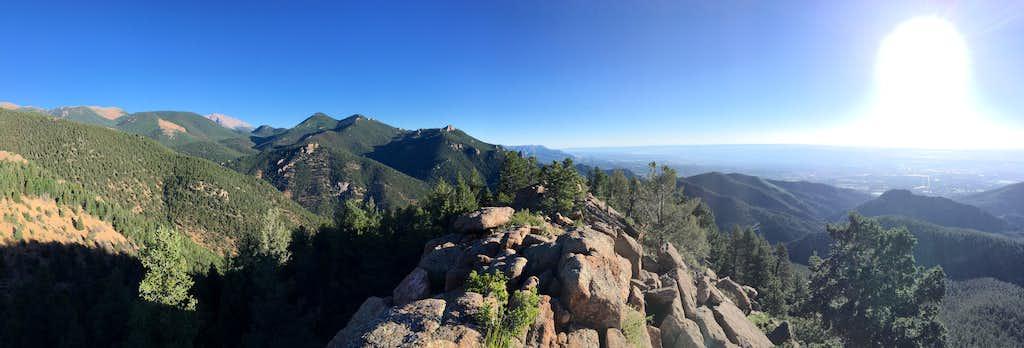 Summit view panorama
