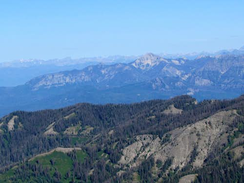 Zoomed view of Pagosa Peak