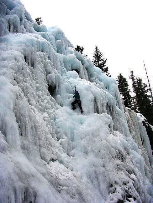 February 11, 2005 - A climber...