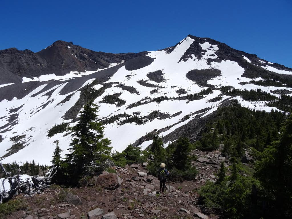 diamond peak nw ridge false summit 2