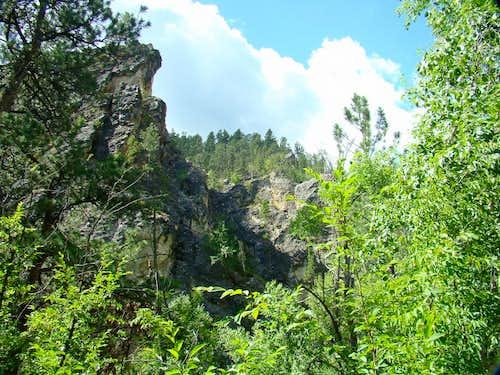 Little Elk Creek Canyon rock